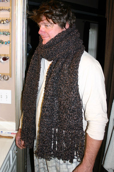 Mike and his scarf