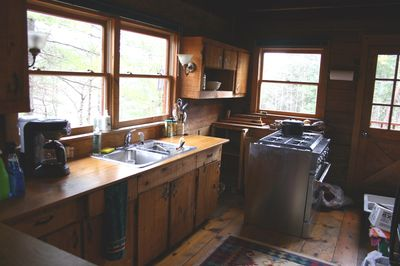 Cabin kitchen mess