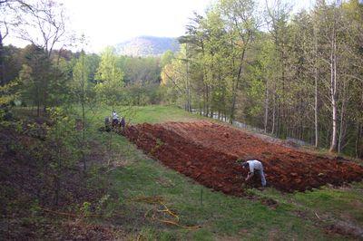 Plowed garden
