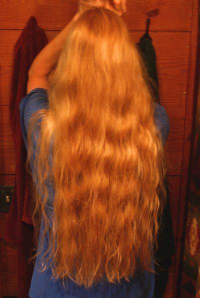 Bunned hair