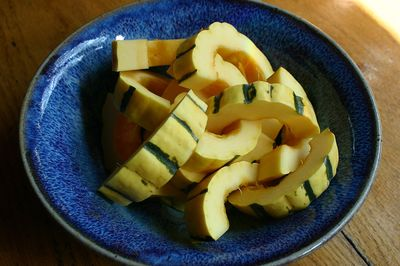 Delicata squash cut up