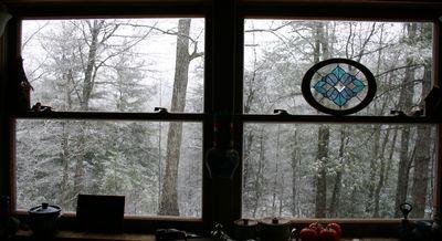 White Christmas kitchen window