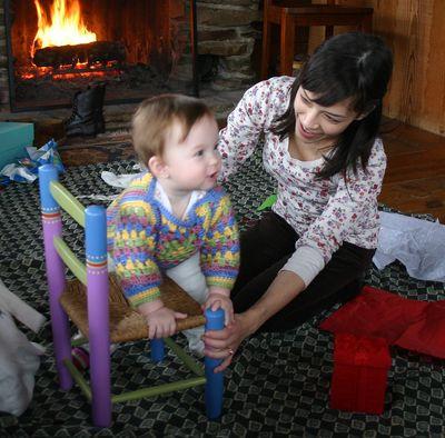 Christmas Margot and Sarah