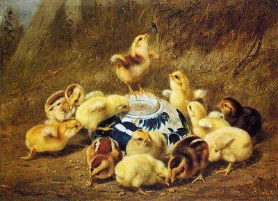 ArthurFitzwilliamTait-ChicksandDelftBowl