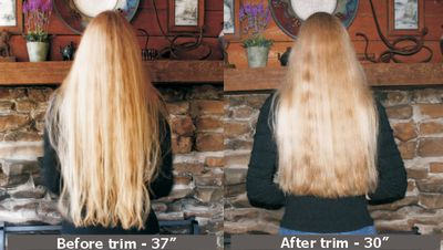 Before and after trim February 2011