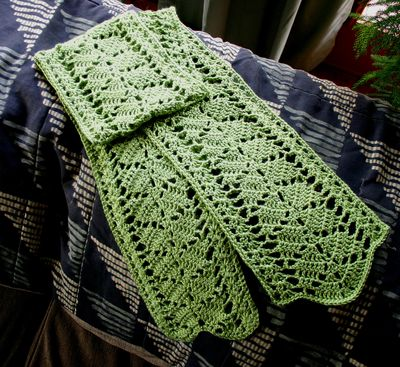 Free Crochet Leaf Scarf Pattern : Wahsega Valley Farm: Crochet