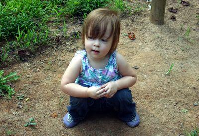 Margot in garden