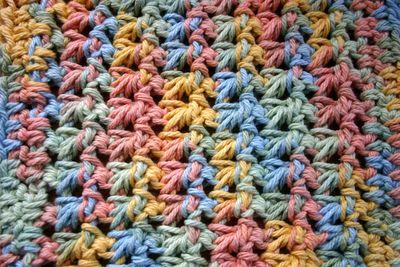 Crochet stick on washcloth