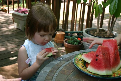 Margot and watermelon