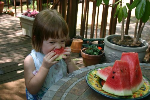 Margot and watermelon2