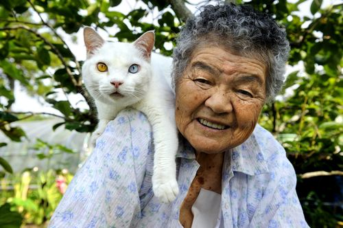 Grandma and cat